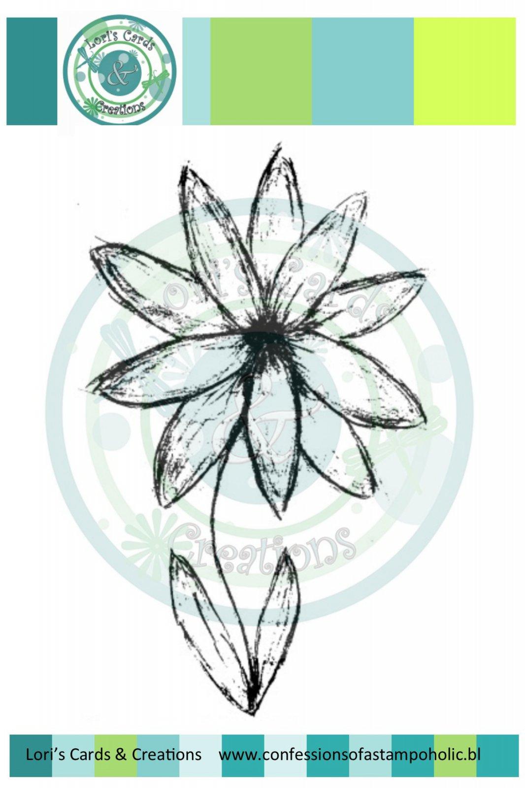 Sketchy Flower - Digi