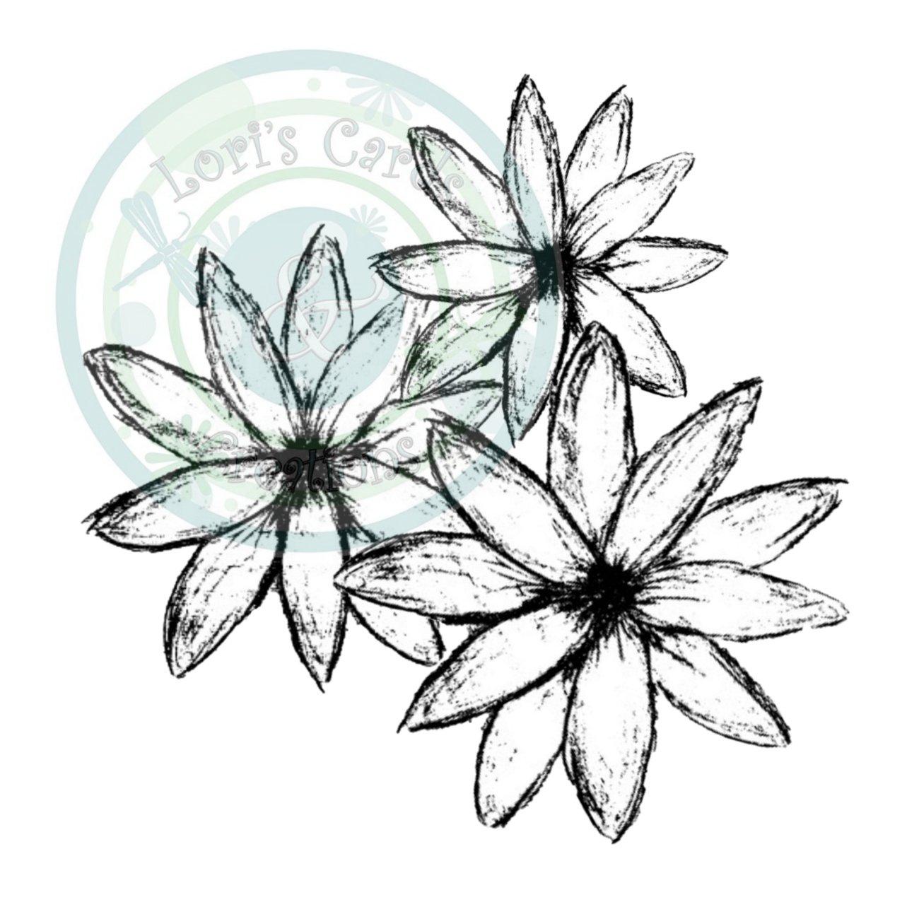 Sketchy Flower Trio