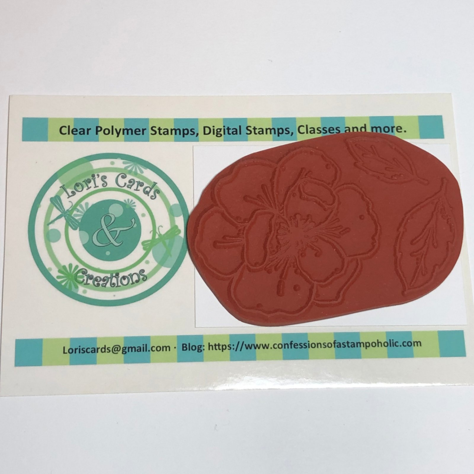 Sketchy Rose - Traditional Red Rubber Unmounted