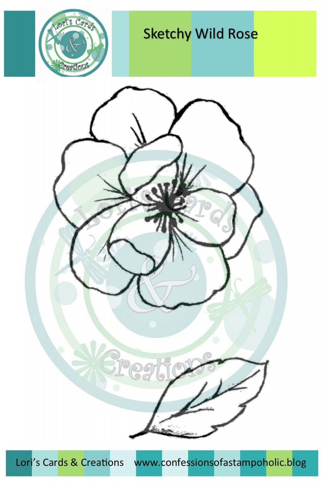 Sketchy Wild Rose