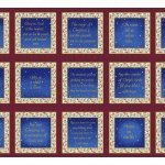Blank Studio Silent Night Blue Blocks with Religious Holiday Sentiment Panel 24