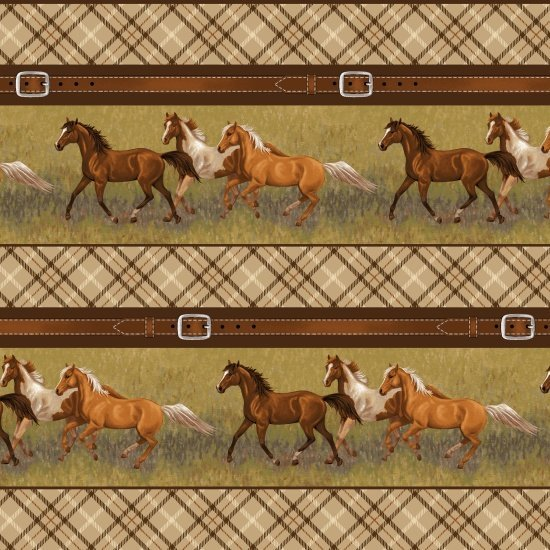 Studio E Hold Your Horses Striped Brown