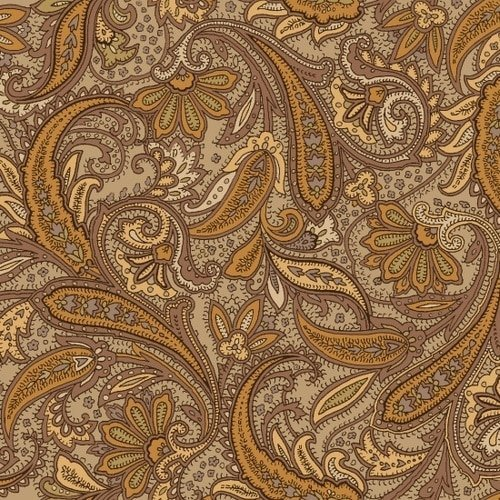 Studio E Hold Your Horses Brown Paisley