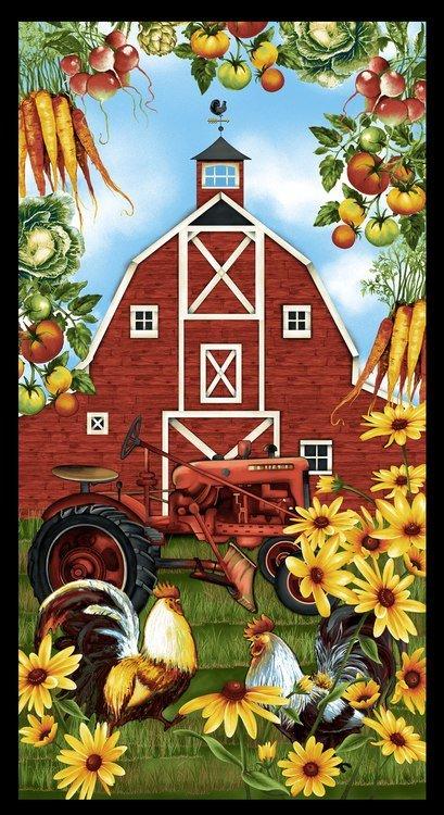 Studio E Farmers Market 24 Tractor Panel