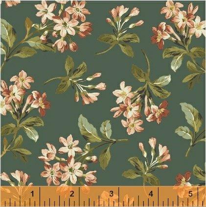 Windham Fabrics Tara Floral Spray Green 51233-3