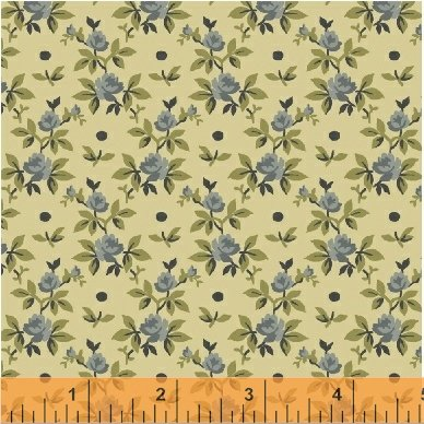Windham Fabrics Tara Rose Buds Blue 51236-7