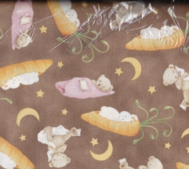 Quilting Treasures Snuggle Time Brown