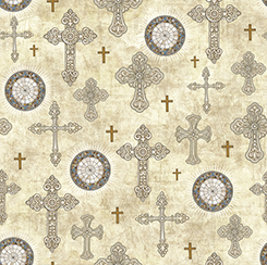 Quilting Treasures Heavenly Crosses Parchment