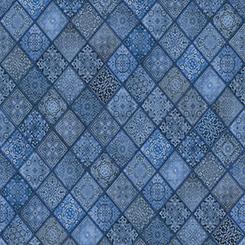 Quilting Treasures Heavenly Diagonal Blue