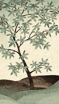 Northcott Artisan Spirit Tree 24 Panel Blue/Grey