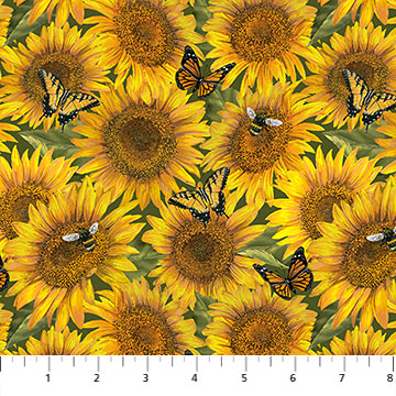 Northcott Heartland Home Sunflowers;
