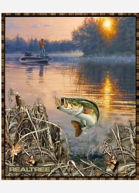 Sykel Enterprises Realtree Bass Fishing 36 Panel