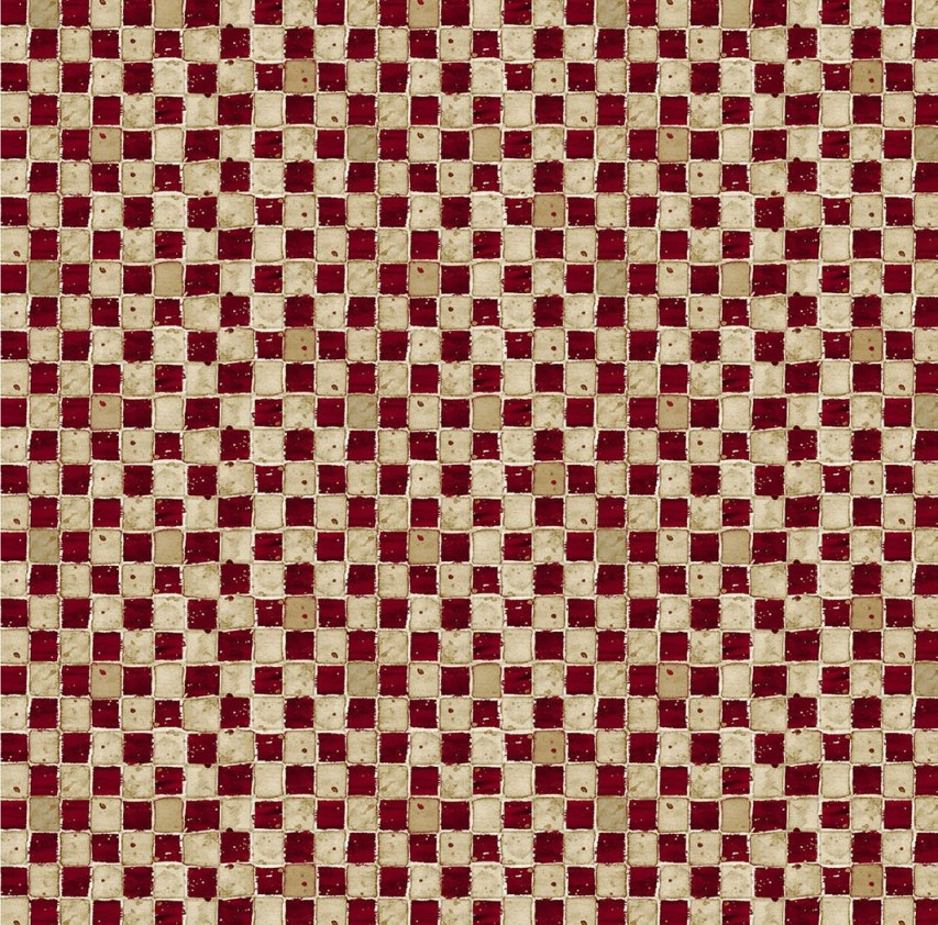 Print Concepts Farmall Hometown Red and Grey  Checker