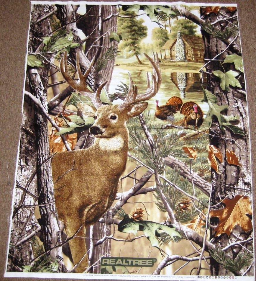 Print Concepts Realtree Deer and Turkey 36 inch Panel