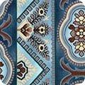 Robert Kaufman Charlotte C. 1860 Dusty Blue Stripe