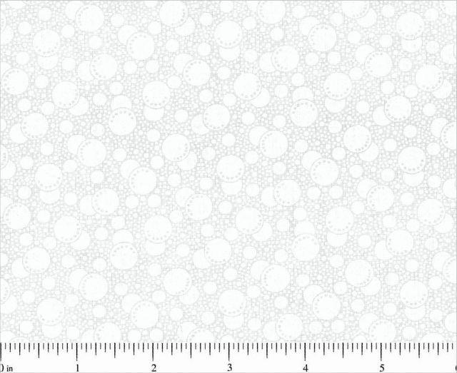 Choice Fabrics Tone On Tone White w/White Bubbles
