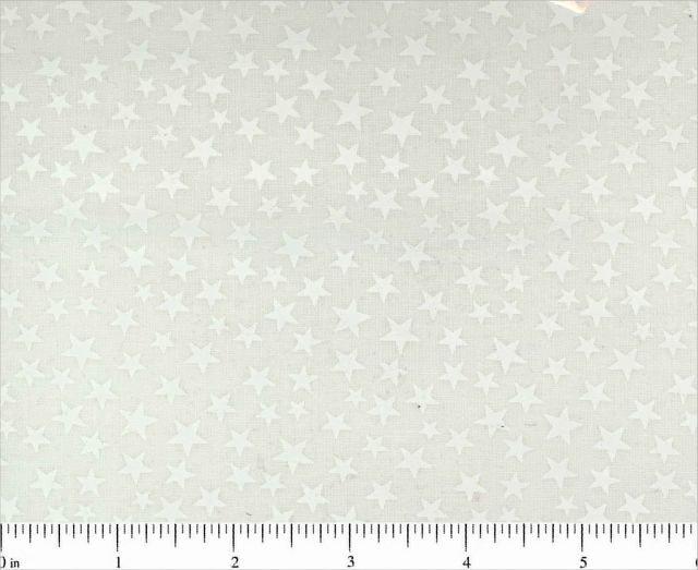 Choice Fabrics Tone On Tone White w/White Stars