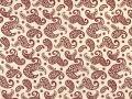 Choice Fabrics Civil War Red Paisley on Cream