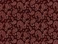 Choice Fabrics Civil War Cream Paisley on Red