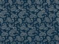 Choice Fabrics Civil War Cream Paisley on Blue