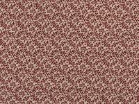 Choice Fabrics Civil War Small Red Flowers and Vines on Cream