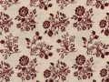 Choice Fabrics Civil War Cream with red boquet