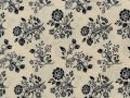 Choice Fabrics Civil War Black Bouquet on Cream