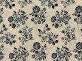 Choice Fabrics Civil War Blue Bouquet on Cream