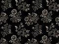 Choice Fabrics Civil War Cream Bouquet on Black