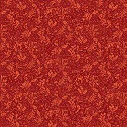 Benartex Autumn Leaves Garden Vine Red