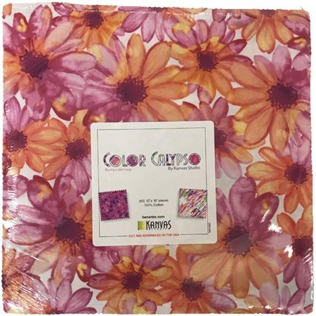 Benartex/Kanvas Color Calypso Berry 10x10 Pack