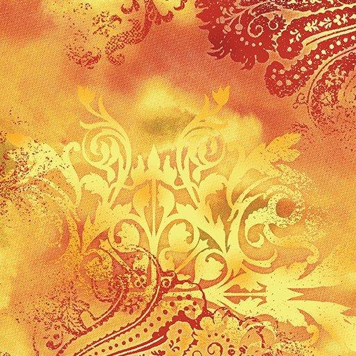 Benartex Dreamscape Orange Flame