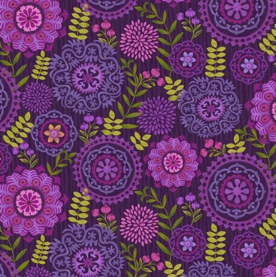 Studio E Enchanted Forrest Lavender Purple Flowers