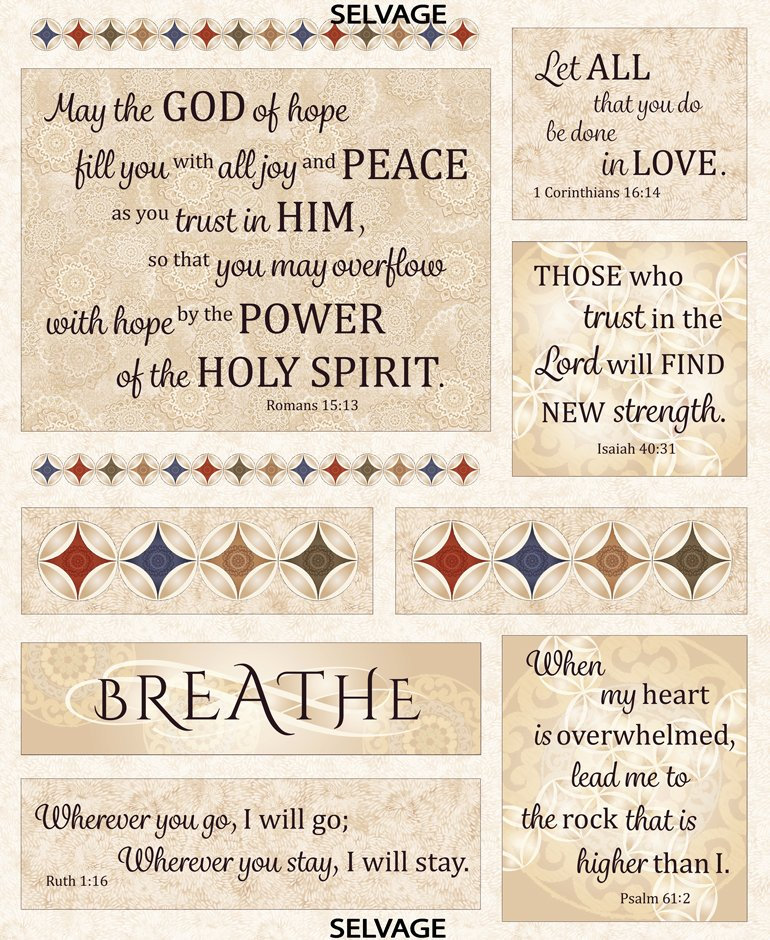 Timeless Treasures Linen Wing and a Prayer 36