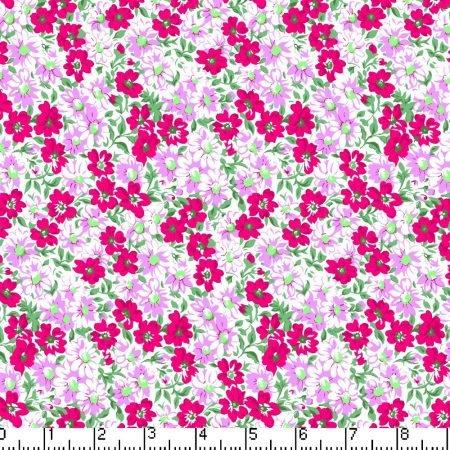 Marshall Dry Goods Flower Patch Flamingo