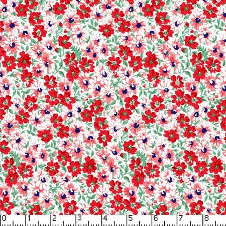Marshall Dry Goods Flower Patch Red