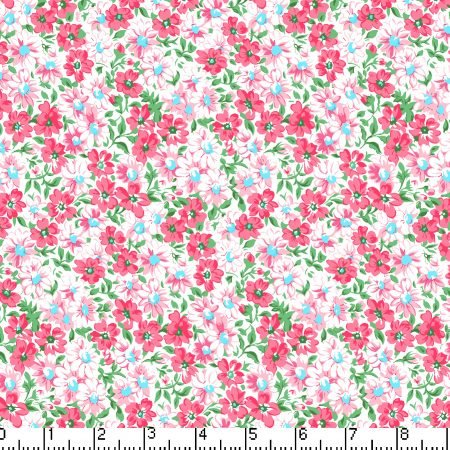 Marshall Dry Goods Flower Patch Coral