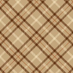 Studio E Hold Your Horses Brown Plaid