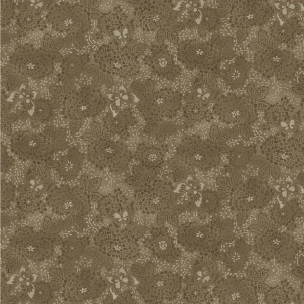 Blank Quilting Serenity Dotted Floral Brown