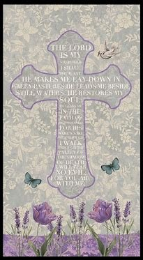 Blank Quilting Walk by Faith 24 Psalm 23 Panel