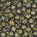 Windham Fabrics Tara Mini Packed Floral Black 51234-1