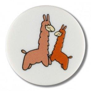 White Alpaca Button