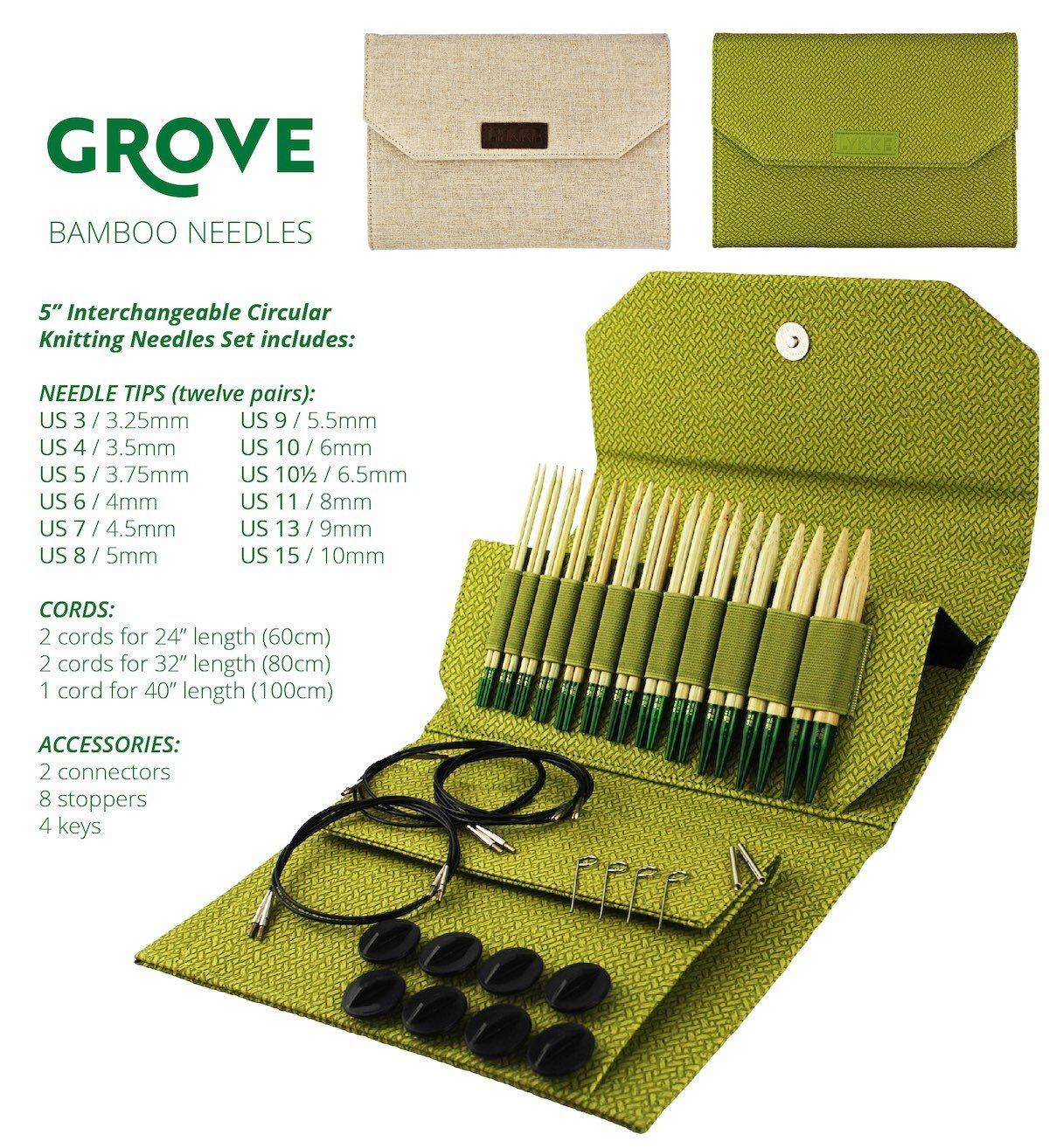 Grove Interchangeable Needle Set
