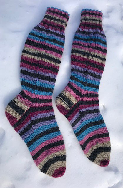 Cabled Boot Socks for the Family