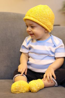 Elit Baby Muare Baby Hat & Booties