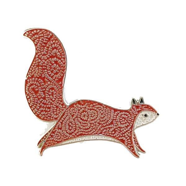 Bramble Squirrel Enamel Pin
