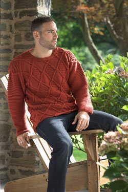 Unisex Cabled Pullover