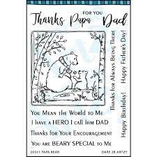 D2B - Papa Bear Clear Stamp