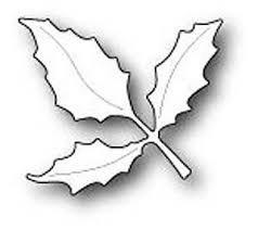 PS - Holly Leaf Branch Die Cut