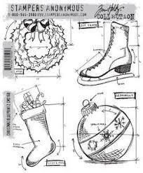SA - TH Christmas Blueprint Cling Stamp